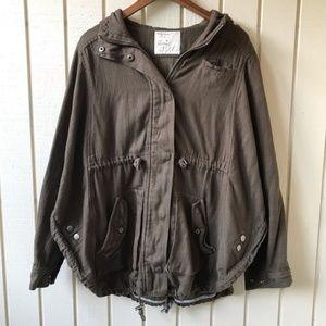 Free People Utility Jacket Anorak Military Poncho